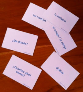 Spanish flashcards